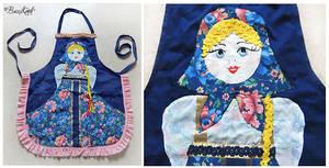 Russian Doll Kitchen Apron