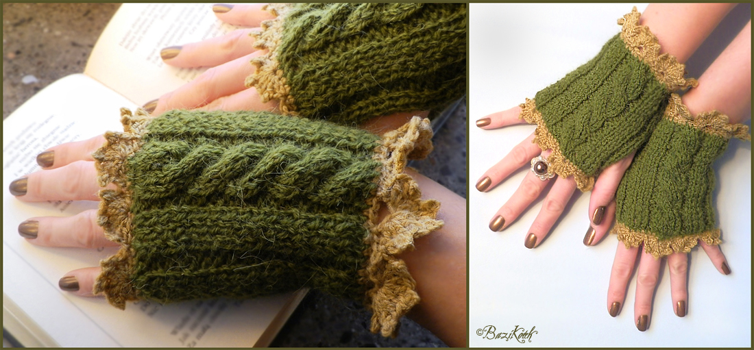 Elven Forest Arm Warmers by BaziKotek