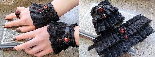 Aristocrat Vampire - wrist cuffs by BaziKotek