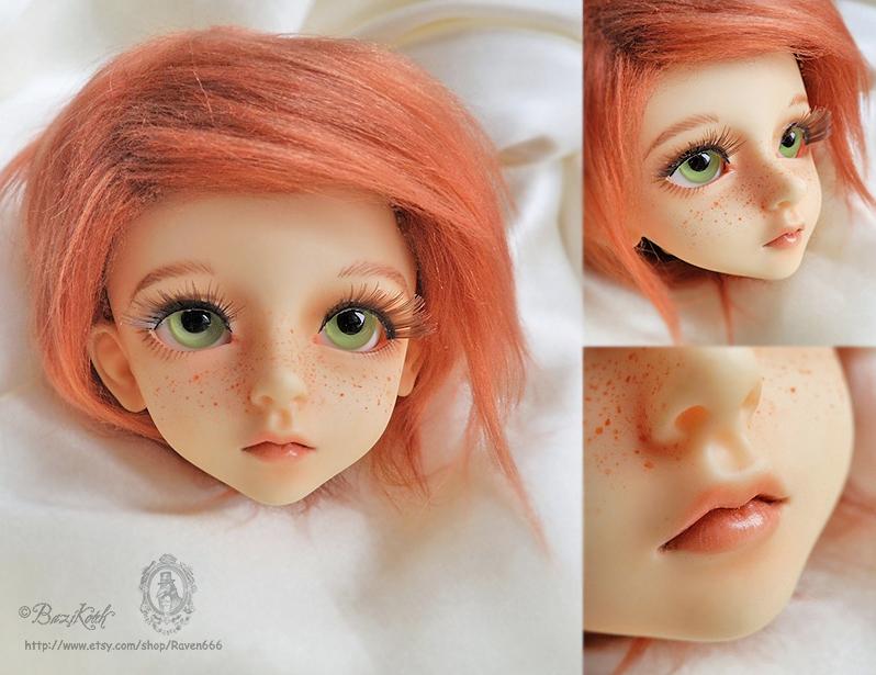 Freckled Boy BJD faceup by BaziKotek