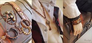 Steampunk Explorer BJD Jewelry set by BaziKotek