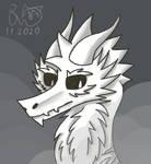 Dragon sketch by BlackWhiteDragon80