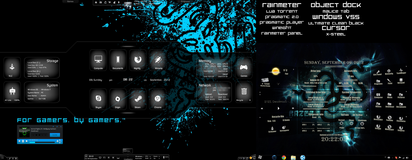 My Rainmeter Desktop by xR4nD0mx3m0x