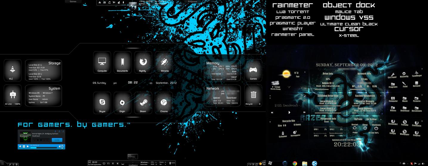 My Rainmeter Desktop by xR4nD0mx3m0x