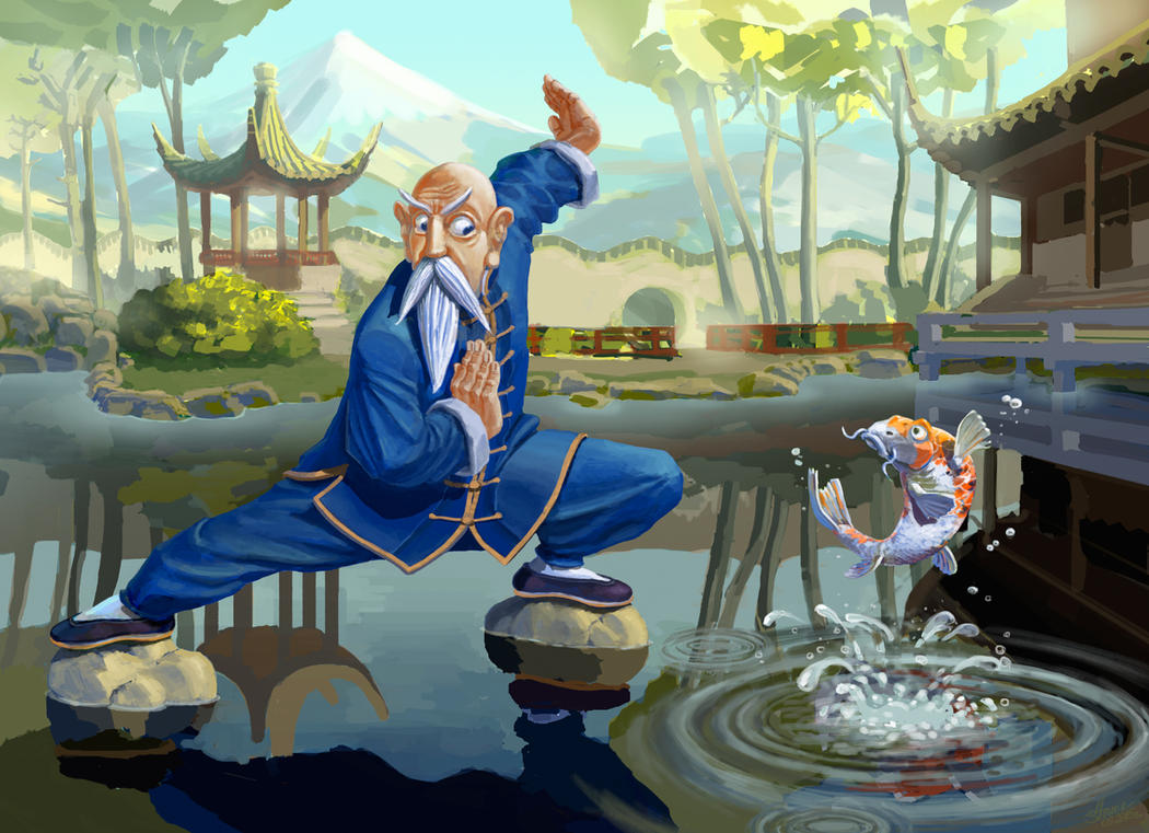 Kung fu fish by sverkhpena on deviantart for 99 5 the fish