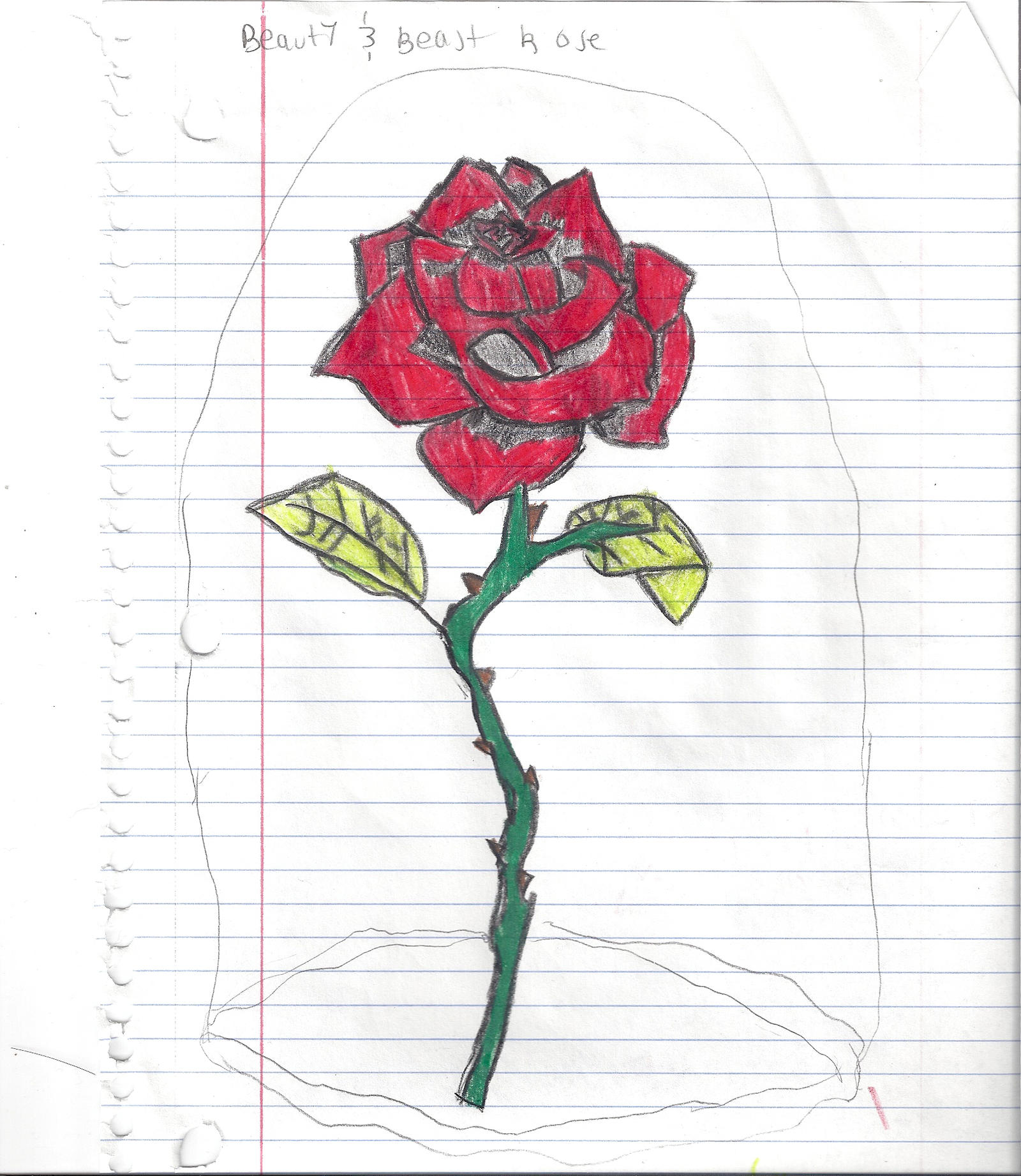 Beauty And The Beast Rose By ElmoKillingGlee