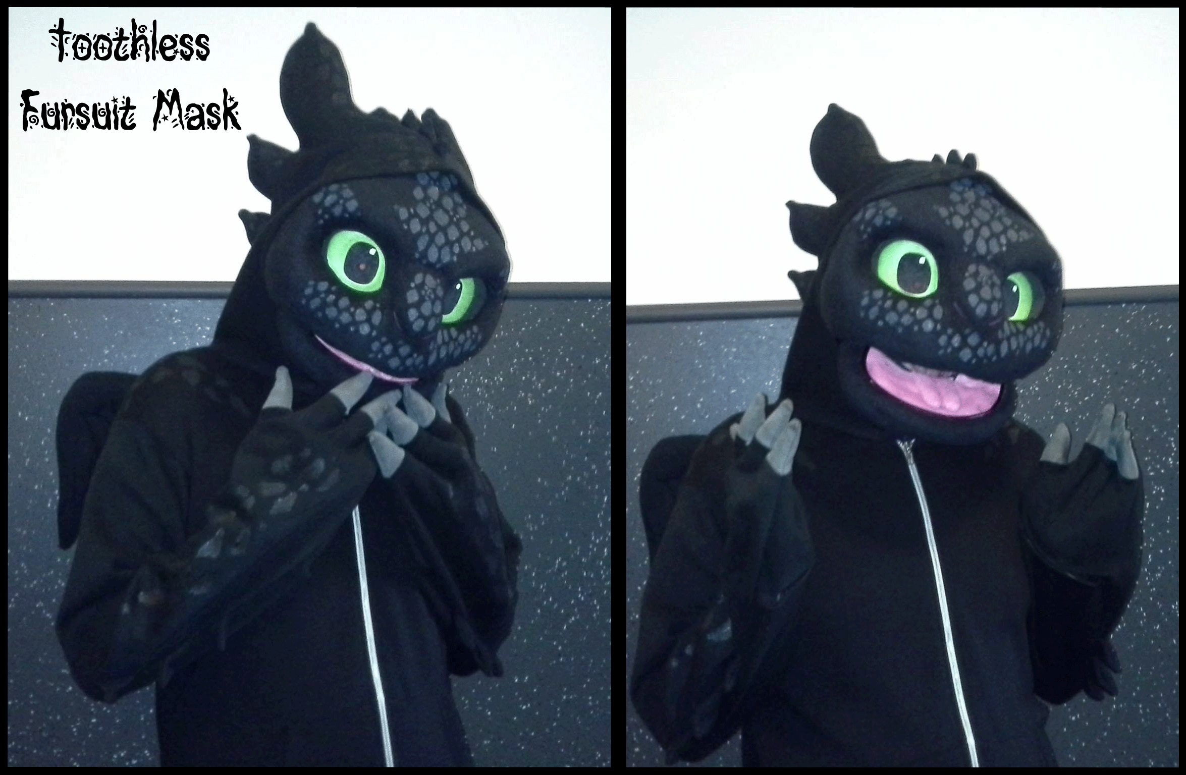 Toothless Fursuit Cosplay Mask  Httyd By Thebandicoot