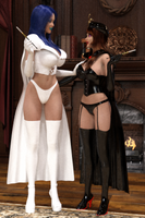Commission: Darcy Frost and Nina, the Black Queen by theheckle01