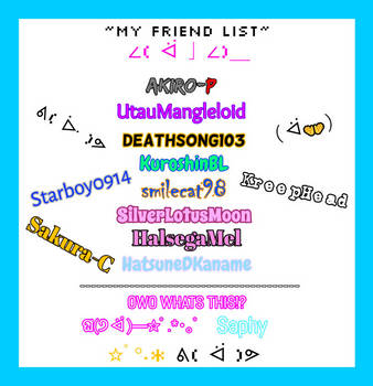 My Friend List AKA CLUB UWU [UPDATED] by PRESTONTHECAT