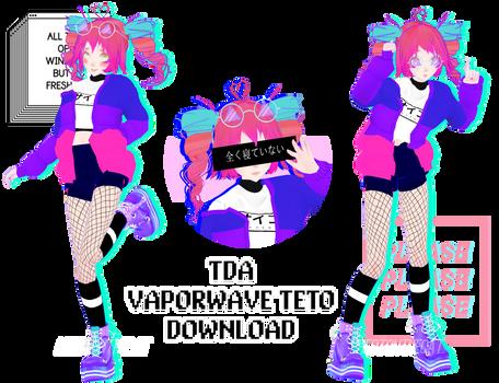 MMD Tda Vaporwave Teto DL