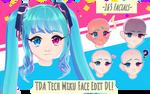 MMD Tda Tech Miku Face Edit -Private Download!-