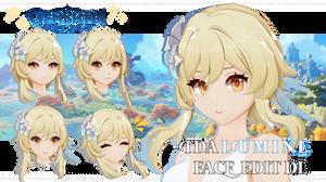 MMD Genshin Impact - Tda Lumine Face Edit DL!