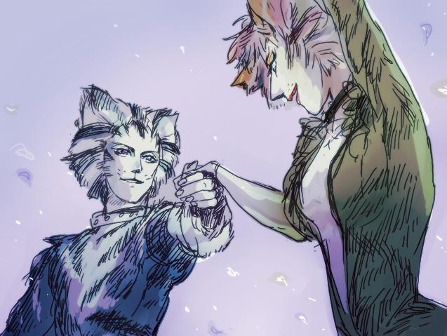 Munkustrap/Demeter by SnowSheepSleep