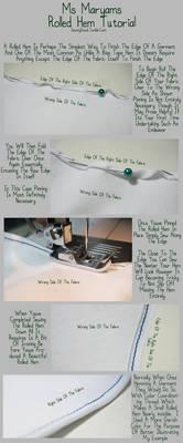 Sewingstuck - Rolled Hem Tutorial