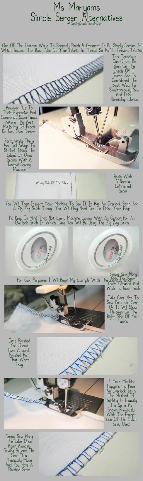 Sewingstuck - Serger Alternatives Tutorial by Mostflogged