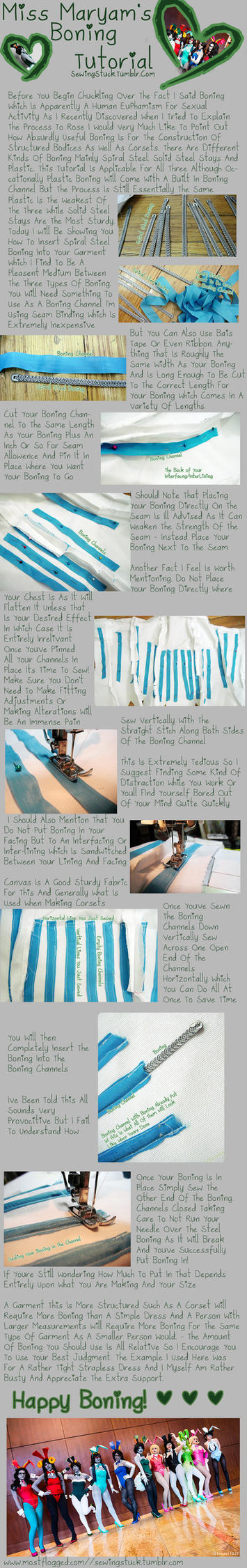 Sewingstuck - Boning Tutorial by Mostflogged