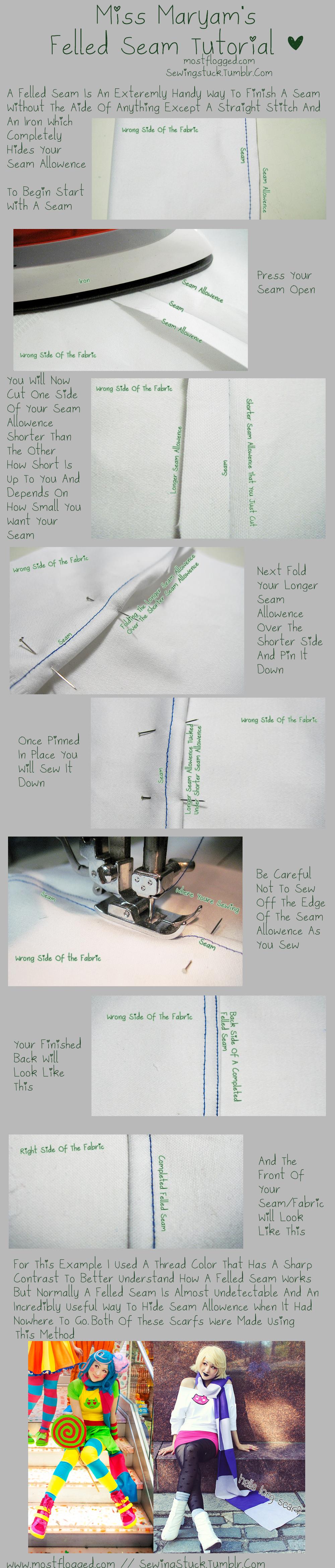 Sewingstuck - Felled Seam Tutorial by Mostflogged
