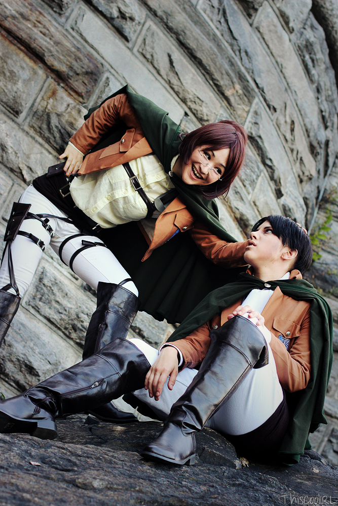 Hanji and Levi - Attack on Titan by Mostflogged