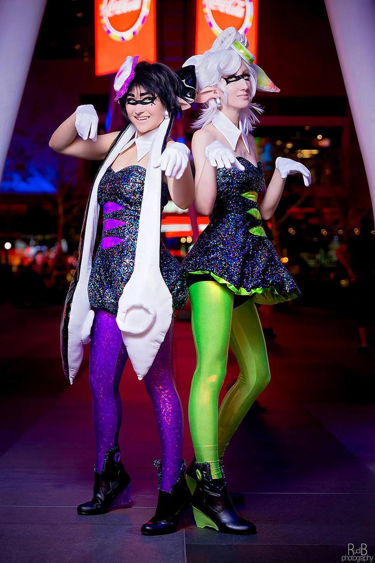 Splatoon callie and marie cosplay