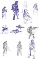 MW Sketches by TheDude000