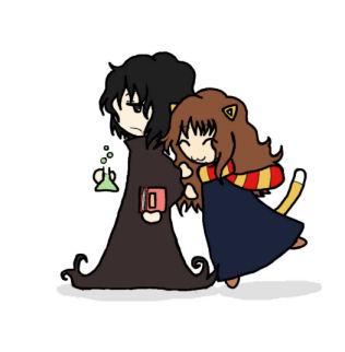 Snape and Hermione 4 by BakaMokona