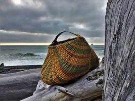 Vintage Barrel Ring Basket Weaving by WeepingGrove