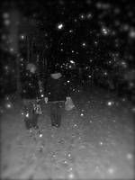 Walking in the snow by RedSoxRyan