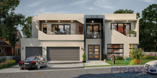 3D Exterior Rendering Design for Home by Praxis-Studio
