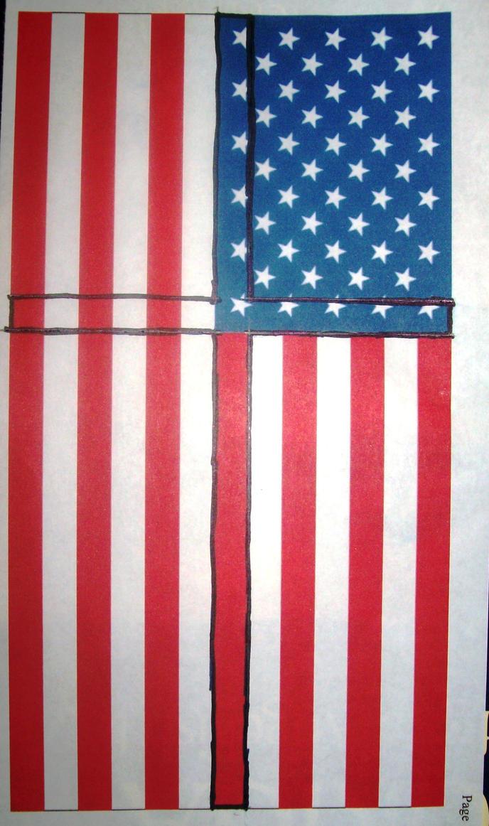 Holy Cross on the U.S. Flag by HolyCross9