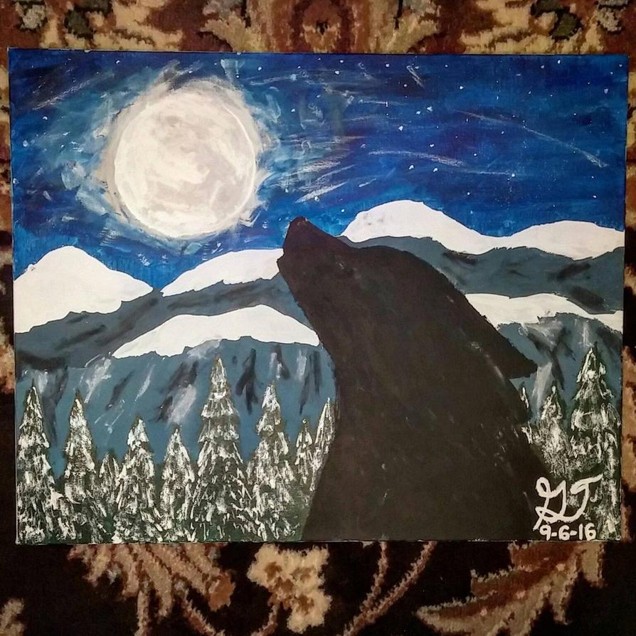 Wolf Painting by xXSilvrTheShipprXx