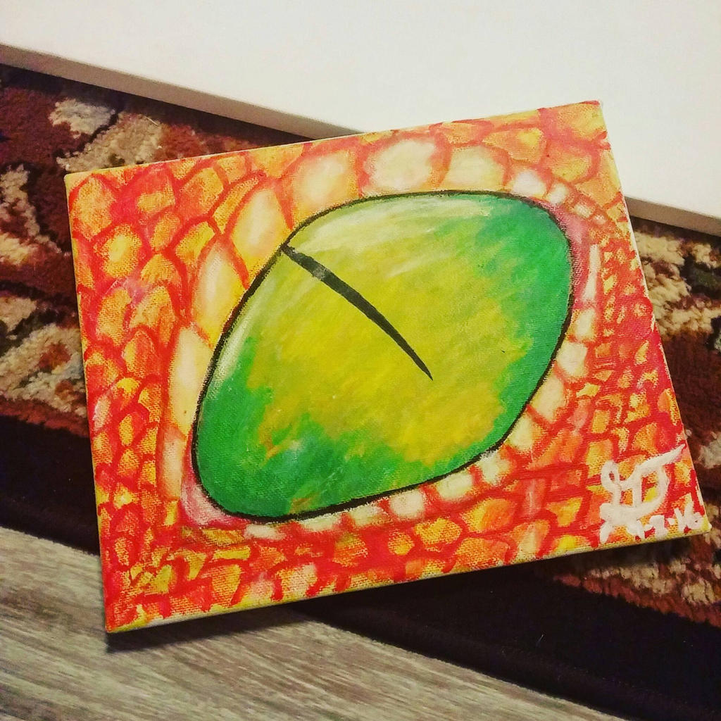 Dragon Eye Painting by xXSilvrTheShipprXx