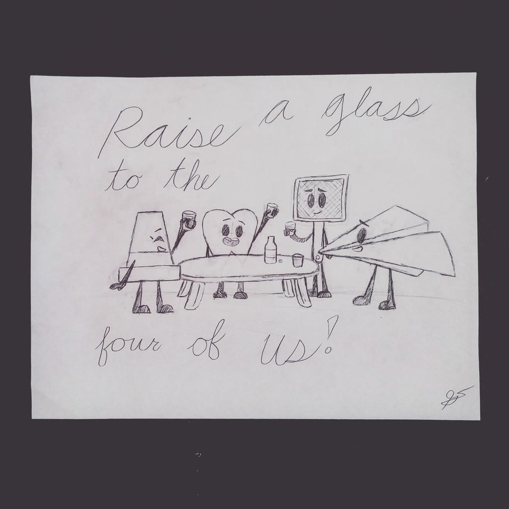 Raise a Glass to the Four of Us! by xXSilvrTheShipprXx