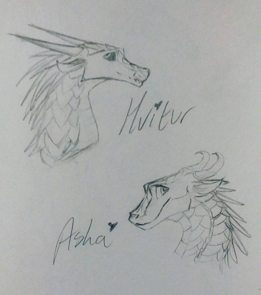 Hvitur and Asha by xXSilvrTheShipprXx