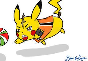 Pikachu x Nishinoya by BaniAndKuma