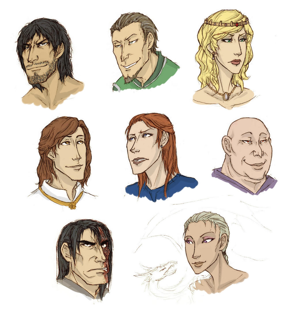asoiaf headshots by shaydh