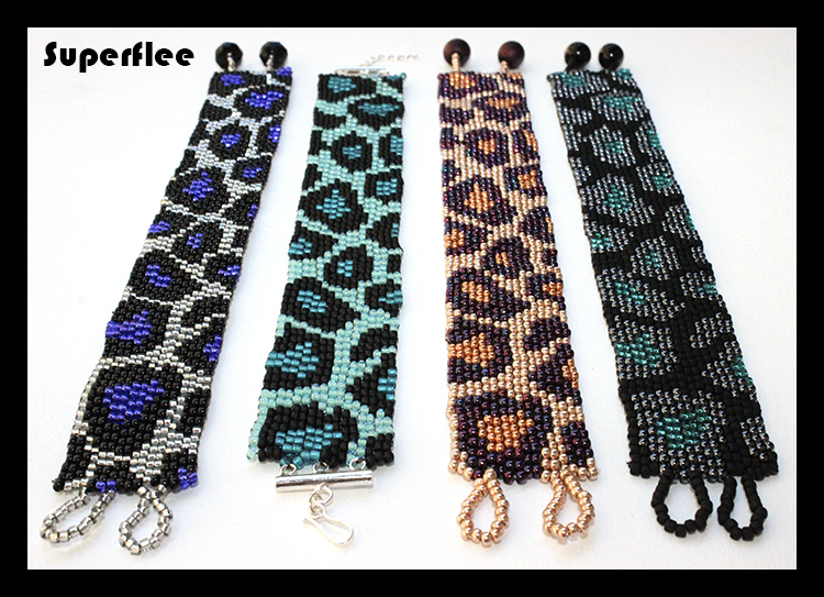 Leopard Print Bracelets by SuperFlee