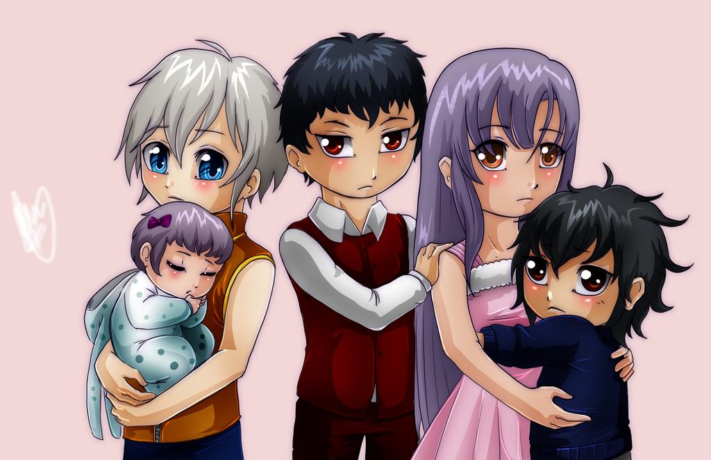 Hiiragi children by MangoGloor