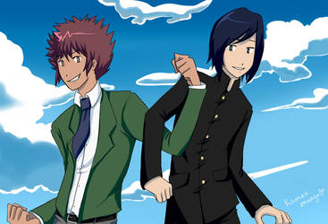 Daisuke and Ken by MangoGloor