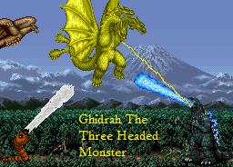 Ghidrah, The Three Headed Monster by echosnake