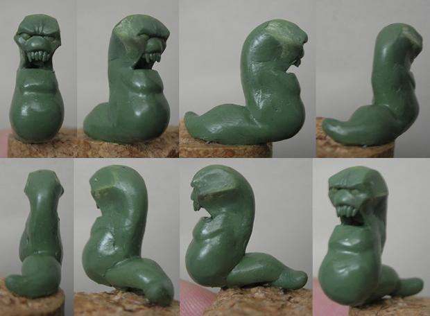 Wormlike Trollkin - Progress 1 by Serg-Natos
