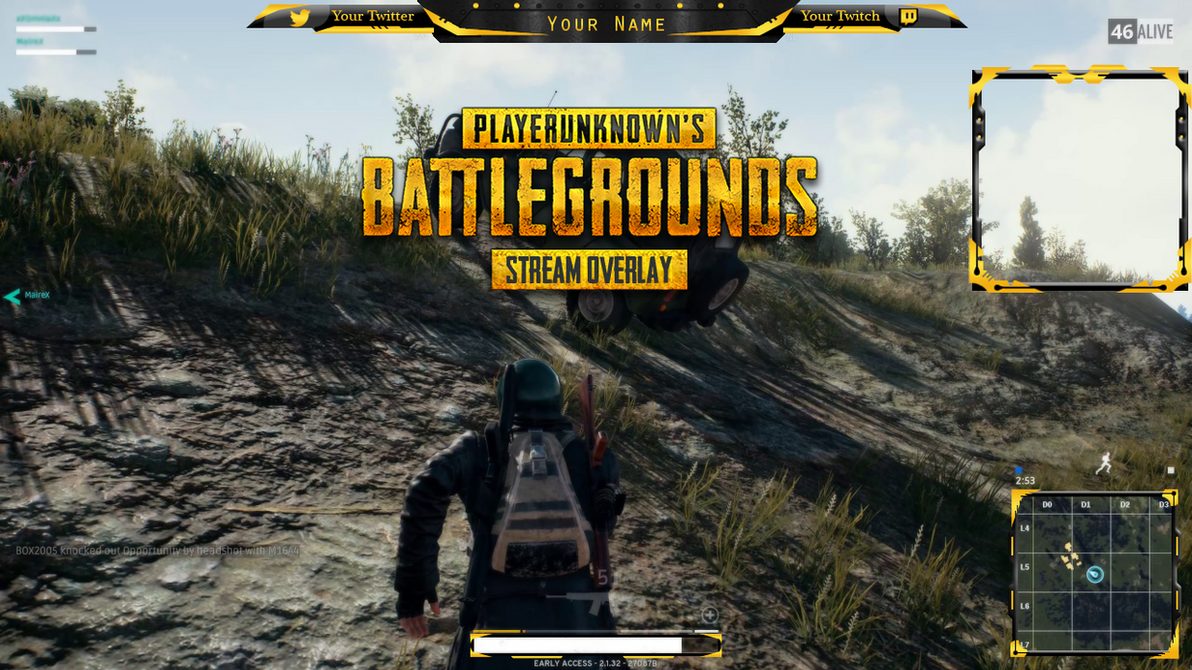 PUBG - Stream Overlay by Arcaste on DeviantArt