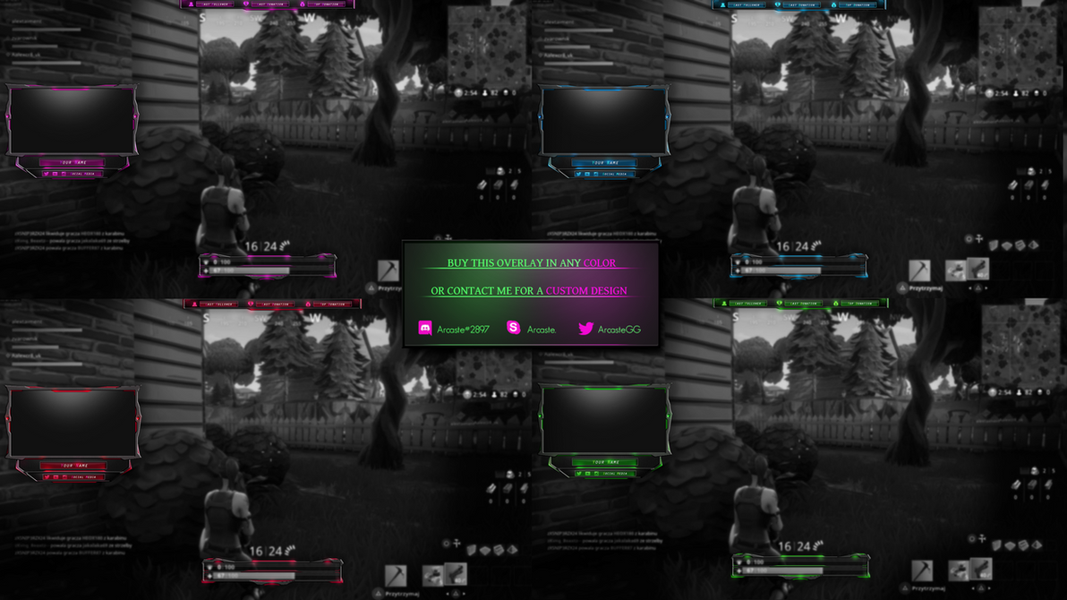 Fortnite overlay - All colors avaliable by Arcaste