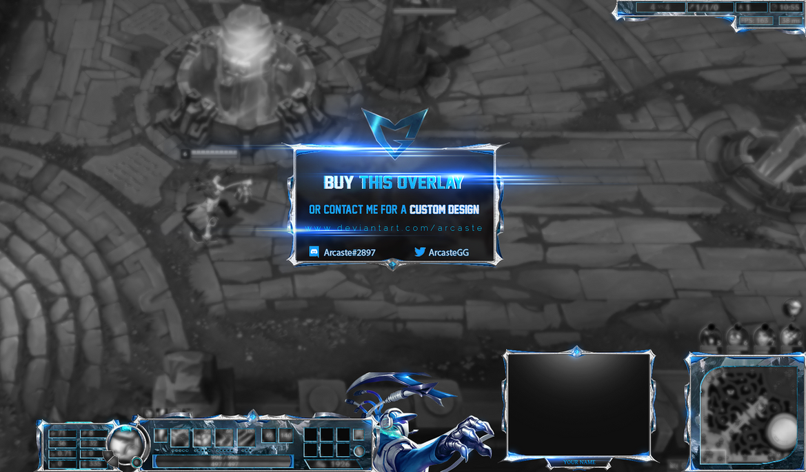 League of Legends - SSW Thresh overlay by Arcaste