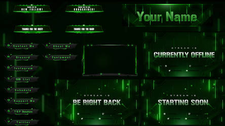 Animated Stream Pack - Description for animations by Arcaste