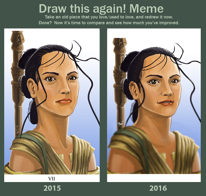 Draw This Again: Rey by killerbee23