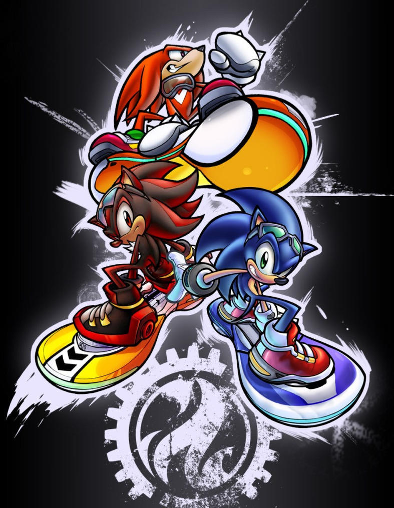 BF Sonic Rider Sticker Preview by Robaato