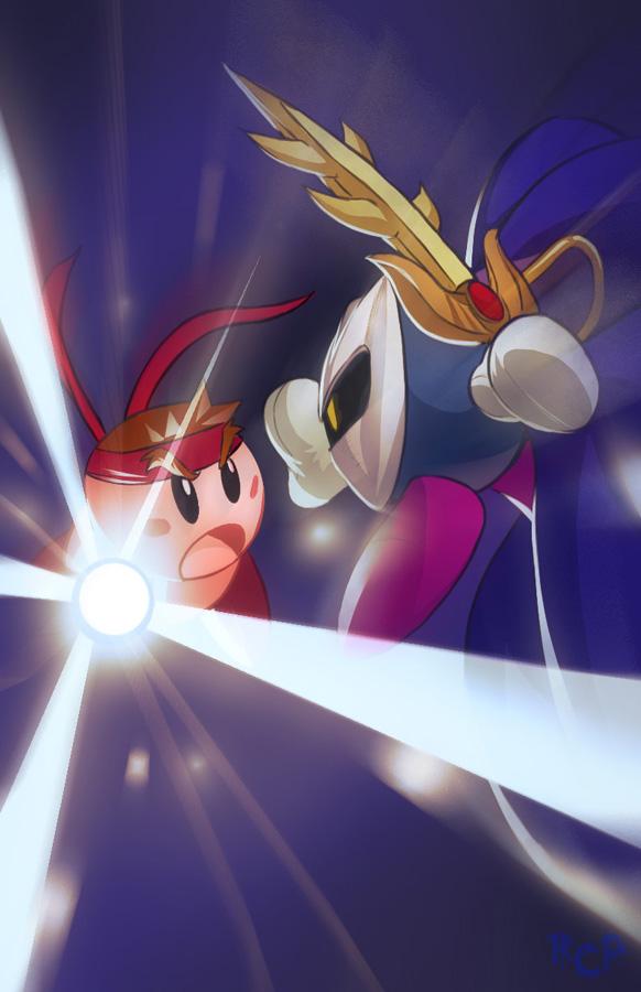 Shoto-Kirby VS Meta-Knight by Robaato