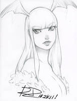 2011 Morrigan Sketch by Robaato