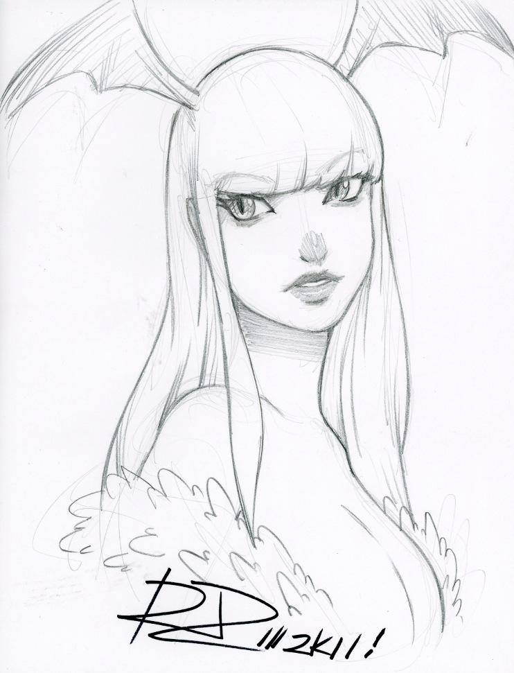 2011 Morrigan Sketch by Robaato