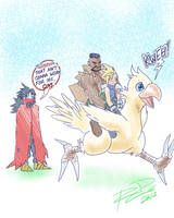How DO All Party Members Ride the Chocobo? by Robaato